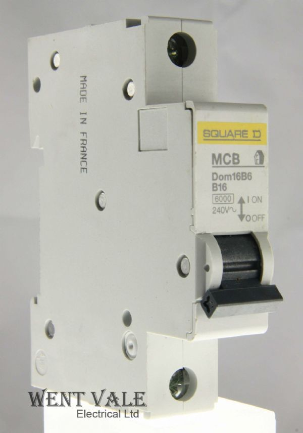 Square D Domae - DOM16B6 - 16a Type B Single Pole MCB Used